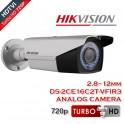 HIKVISION DS-2CE16C2T-VFIR3 Κάμερα Bullet HD-TVI 720p 2.8-12mm