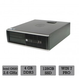 HP Compaq 6200 - Core G620 2.6 GHz - 4 GB - 128SSD